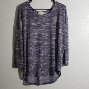 Sheer lavender two toned top